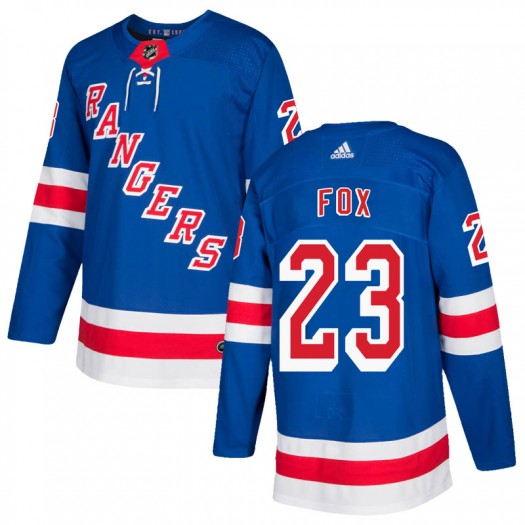 Adam Fox New York Rangers Men's Adidas Authentic Royal Blue Home Jersey