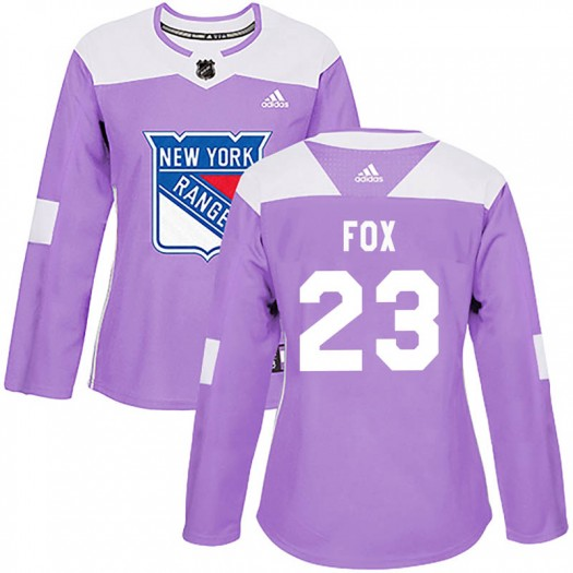 Adam Fox New York Rangers Women's Adidas Authentic Purple Fights Cancer Practice Jersey