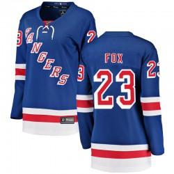 Adam Fox New York Rangers Women's Fanatics Branded Blue Breakaway Home Jersey