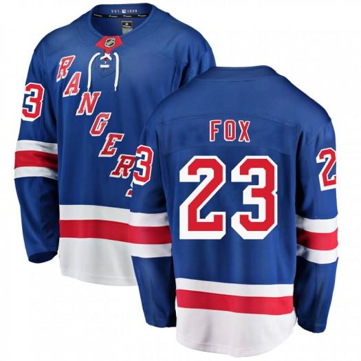 Adam Fox New York Rangers Youth Fanatics Branded Blue Breakaway Home Jersey