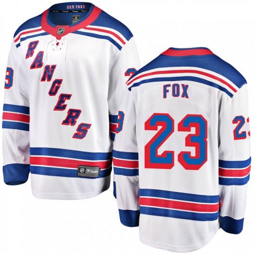 Adam Fox New York Rangers Youth Fanatics Branded White Breakaway Away Jersey