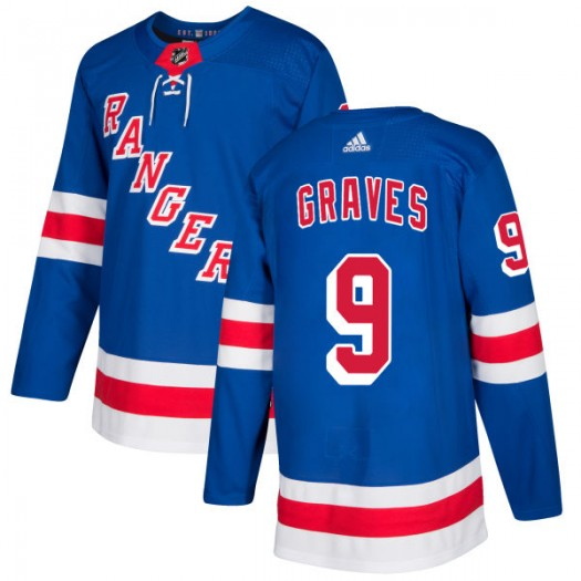 Adam Graves New York Rangers Men's Adidas Authentic Royal Jersey
