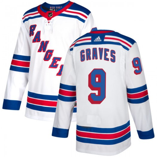 Adam Graves New York Rangers Men's Adidas Authentic White Jersey