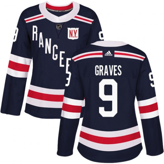Adam Graves New York Rangers Women's Adidas Authentic Navy Blue 2018 Winter Classic Jersey