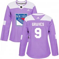 Adam Graves New York Rangers Women's Adidas Authentic Purple Fights Cancer Practice Jersey