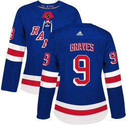 Adam Graves New York Rangers Women's Adidas Authentic Royal Blue Home Jersey