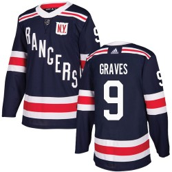 Adam Graves New York Rangers Youth Adidas Authentic Navy Blue 2018 Winter Classic Jersey