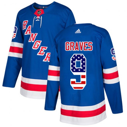 Adam Graves New York Rangers Youth Adidas Authentic Royal Blue USA Flag Fashion Jersey