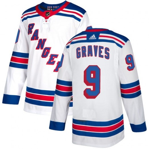 Adam Graves New York Rangers Youth Adidas Authentic White Away Jersey