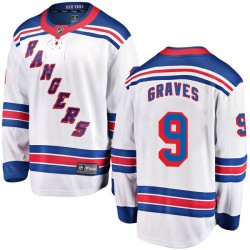 Adam Graves New York Rangers Youth Fanatics Branded White Breakaway Away Jersey