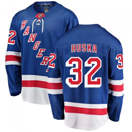 Adam Huska New York Rangers Youth Fanatics Branded Blue Breakaway Home Jersey