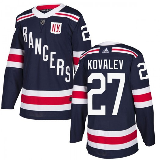 Alex Kovalev New York Rangers Men's Adidas Authentic Navy Blue 2018 Winter Classic Home Jersey