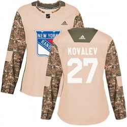 Alex Kovalev New York Rangers Women's Adidas Authentic Camo Veterans Day Practice Jersey