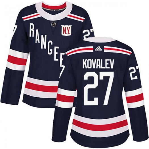 Alex Kovalev New York Rangers Women's Adidas Authentic Navy Blue 2018 Winter Classic Home Jersey