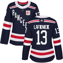 Alexis Lafreniere New York Rangers Women's Adidas Authentic Navy Blue 2018 Winter Classic Home Jersey