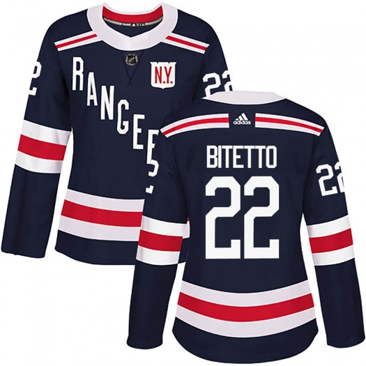 Anthony Bitetto New York Rangers Women's Adidas Authentic Navy Blue 2018 Winter Classic Home Jersey