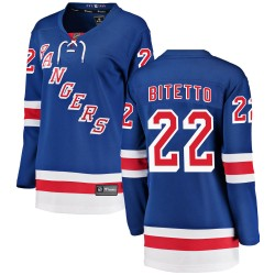 Anthony Bitetto New York Rangers Women's Fanatics Branded Blue Breakaway Home Jersey