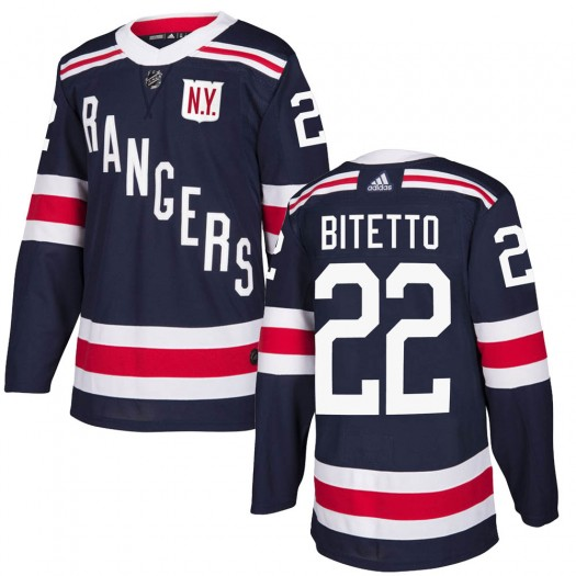 Anthony Bitetto New York Rangers Youth Adidas Authentic Navy Blue 2018 Winter Classic Home Jersey