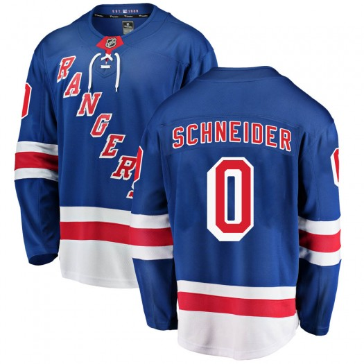 Braden Schneider New York Rangers Men's Fanatics Branded Blue Breakaway Home Jersey