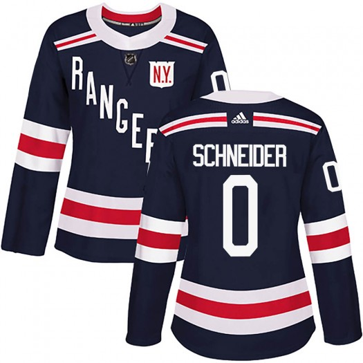 Braden Schneider New York Rangers Women's Adidas Authentic Navy Blue 2018 Winter Classic Home Jersey