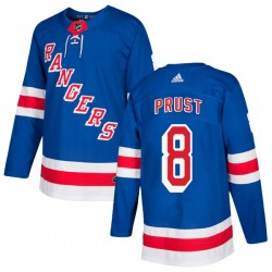 Brandon Prust New York Rangers Youth Adidas Authentic Royal Blue Home Jersey