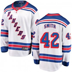 Brendan Smith New York Rangers Men's Fanatics Branded White Breakaway Away Jersey