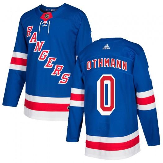 Brennan Othmann New York Rangers Men's Adidas Authentic Royal Blue Home Jersey