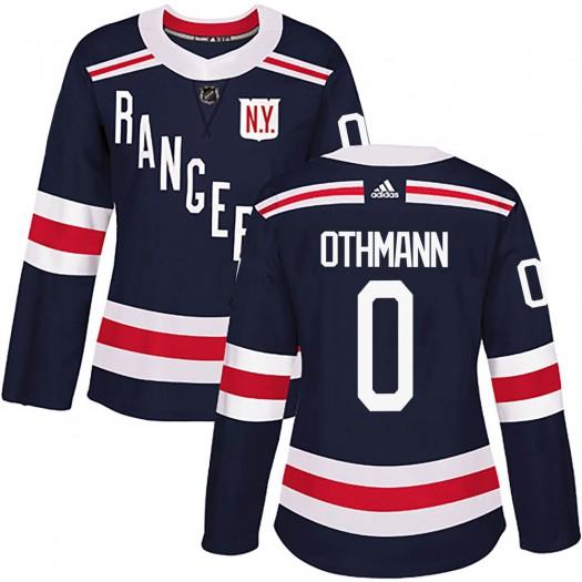Brennan Othmann New York Rangers Women's Adidas Authentic Navy Blue 2018 Winter Classic Home Jersey