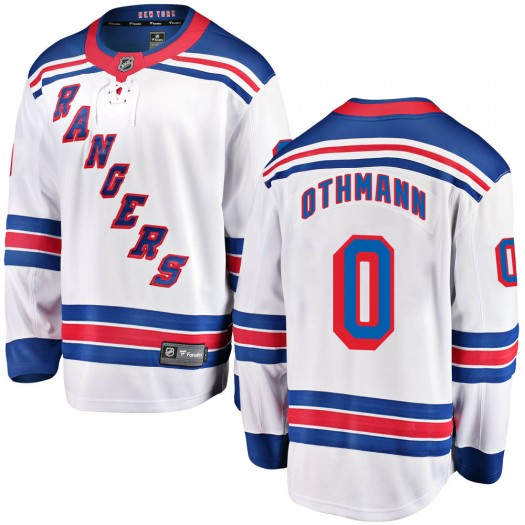 Brennan Othmann New York Rangers Youth Fanatics Branded White Breakaway Away Jersey