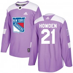 Brett Howden New York Rangers Youth Adidas Authentic Purple Fights Cancer Practice Jersey