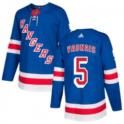 Carol Vadnais New York Rangers Youth Adidas Authentic Royal Blue Home Jersey
