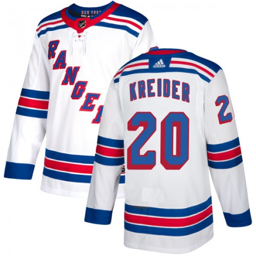 Chris Kreider New York Rangers Men's Adidas Authentic White Jersey