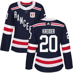 Chris Kreider New York Rangers Women's Adidas Authentic Navy Blue 2018 Winter Classic Jersey
