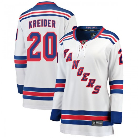 Chris Kreider New York Rangers Women's Fanatics Branded White Breakaway Away Jersey