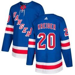 Chris Kreider New York Rangers Youth Adidas Authentic Royal Blue Home Jersey