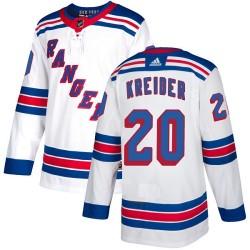 Chris Kreider New York Rangers Youth Adidas Authentic White Away Jersey