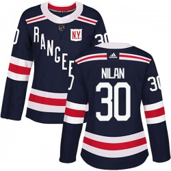 Chris Nilan New York Rangers Women's Adidas Authentic Navy Blue 2018 Winter Classic Home Jersey