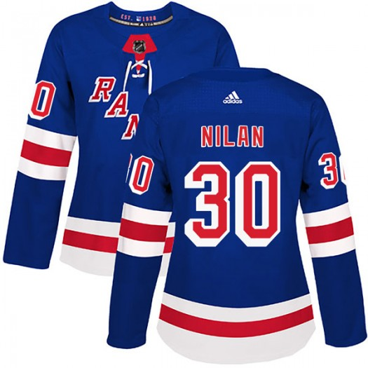 Chris Nilan New York Rangers Women's Adidas Authentic Royal Blue Home Jersey