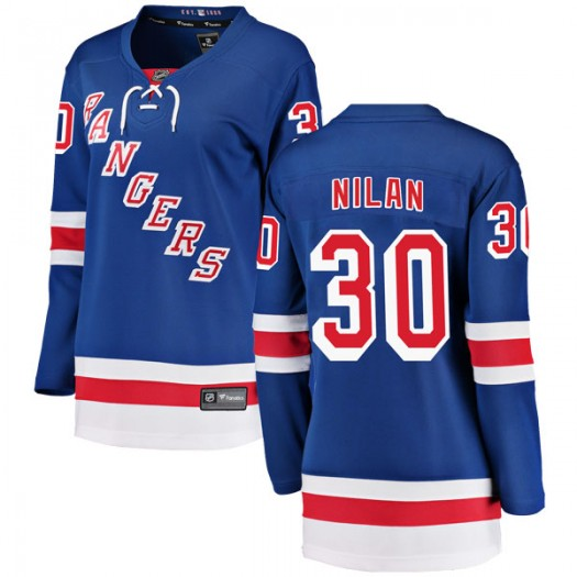 Chris Nilan New York Rangers Women's Fanatics Branded Blue Breakaway Home Jersey