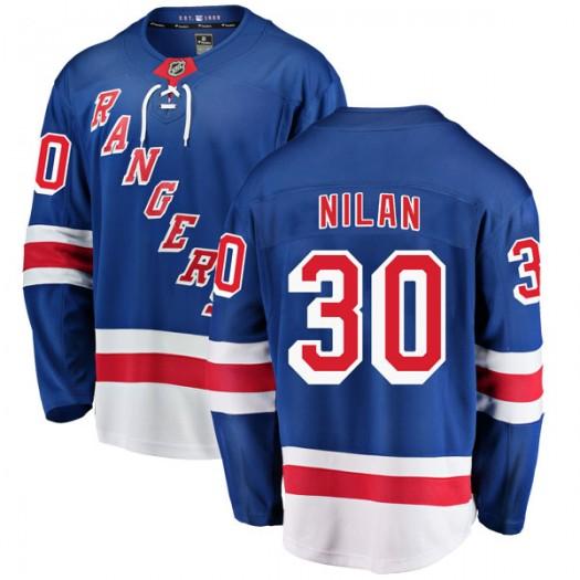 Chris Nilan New York Rangers Youth Fanatics Branded Blue Breakaway Home Jersey