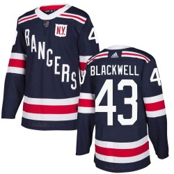 Colin Blackwell New York Rangers Youth Adidas Authentic Navy Blue 2018 Winter Classic Home Jersey
