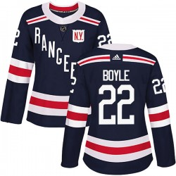 Dan Boyle New York Rangers Women's Adidas Authentic Navy Blue 2018 Winter Classic Home Jersey