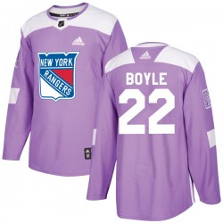 Dan Boyle New York Rangers Youth Adidas Authentic Purple Fights Cancer Practice Jersey