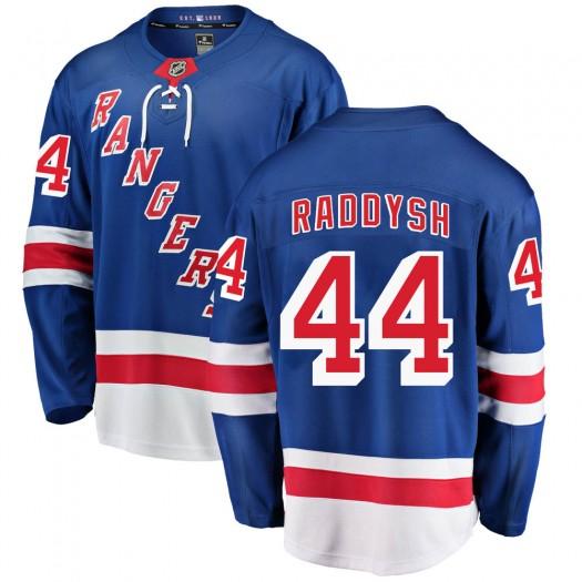 Darren Raddysh New York Rangers Men's Fanatics Branded Blue ized Breakaway Home Jersey