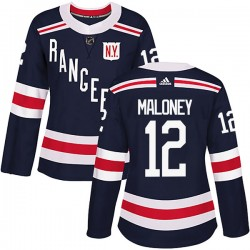 Don Maloney New York Rangers Women's Adidas Authentic Navy Blue 2018 Winter Classic Home Jersey