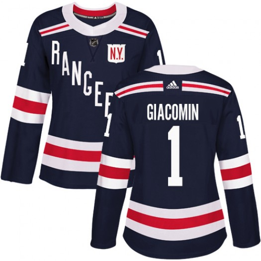 Eddie Giacomin New York Rangers Women's Adidas Authentic Navy Blue 2018 Winter Classic Jersey