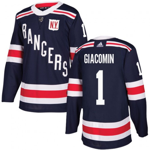 Eddie Giacomin New York Rangers Youth Adidas Authentic Navy Blue 2018 Winter Classic Jersey