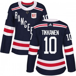Esa Tikkanen New York Rangers Women's Adidas Authentic Navy Blue 2018 Winter Classic Home Jersey
