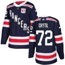 Filip Chytil New York Rangers Men's Adidas Authentic Navy Blue 2018 Winter Classic Jersey