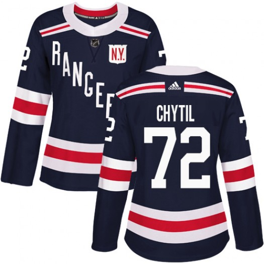 Filip Chytil New York Rangers Women's Adidas Authentic Navy Blue 2018 Winter Classic Jersey